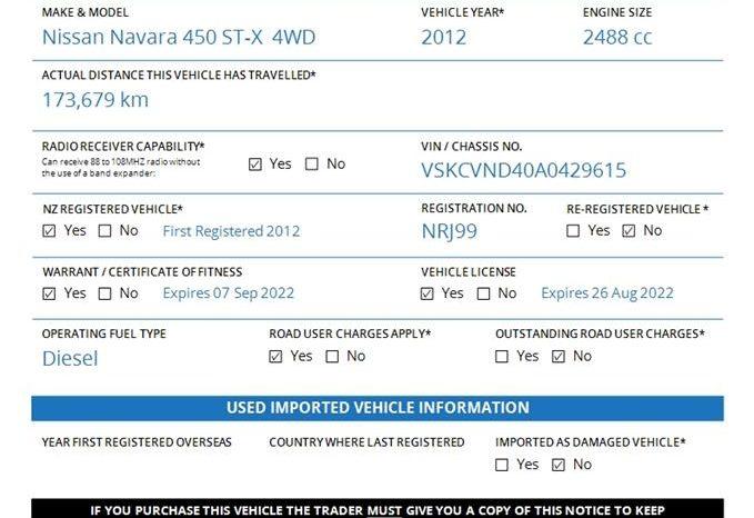 2012 Nissan Navara 450 ST-X  4WD  Manual full